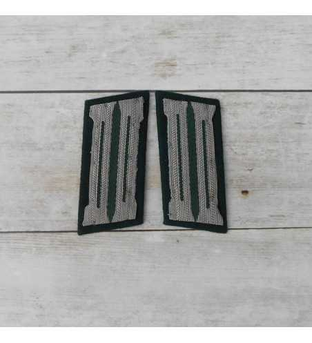 Wehrmacht general collar tabs finished on frame