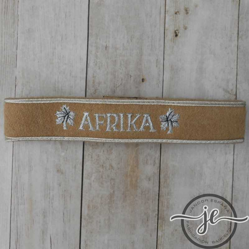 Afrika Cuff title for enlisted men hand embroidered on wool