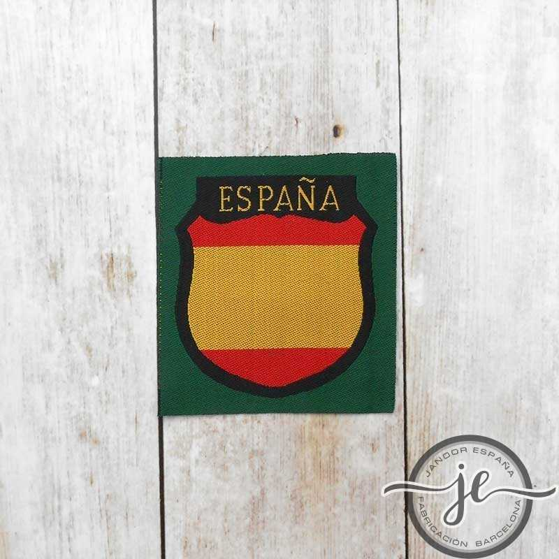 Spanish Division volunteer silk woven sleeve shield