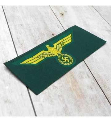 Coastal Artillery enlisted man's silk woven breast eagle, economic