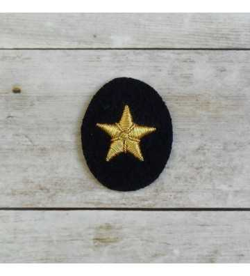Kriegsmarine officer hand embroidered star