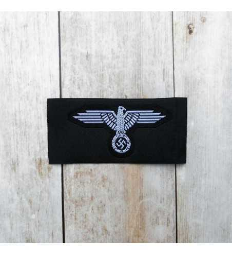 SS enlisted man's silk woven cap eagle