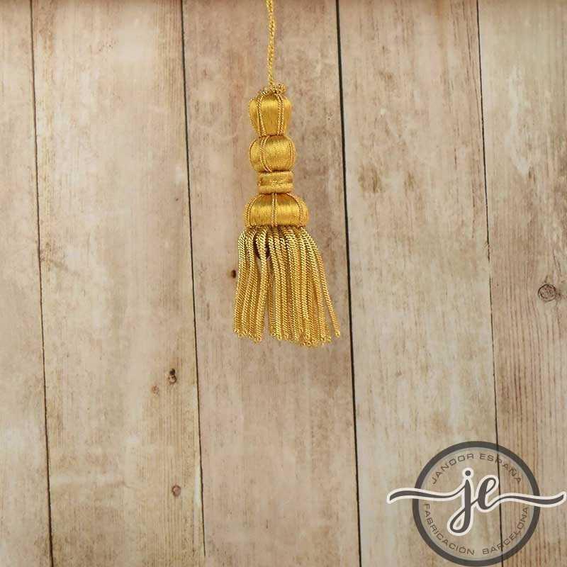 French gold tassel 5 cm with fringe 5 cm