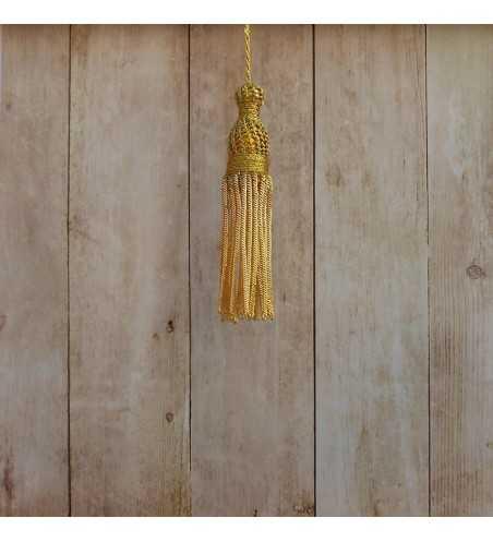 Gold tassel 4 cm with 7 cm fringe