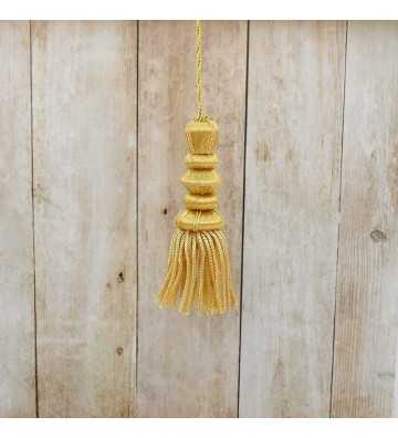 Gold tassel 7 cm with 5 cm fringe