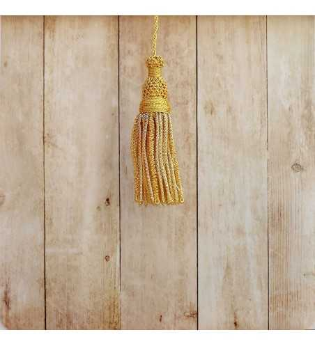 Gold tassel 5 cm with 8 cm worm fringe