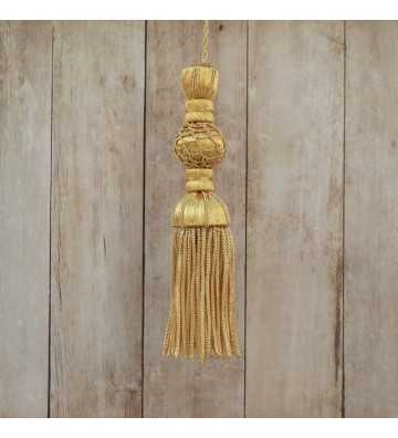 Golden tassel 9 cm with string length and fringe 9 cm