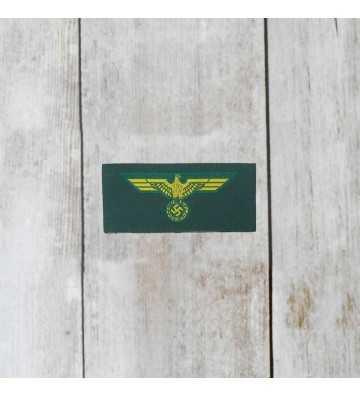 Coastal Artillery enlisted man's silk woven cap eagle, economic
