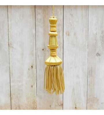 Golden tassel 11 cm with 6 cm fringe