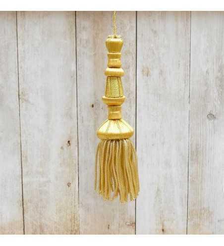 Golden tassel 11 cm with 6 cm fringe