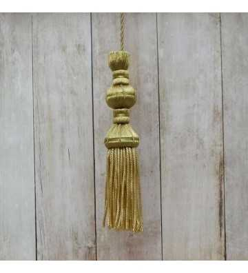 Dark gold tassel 10 cm with 8 cm fringe