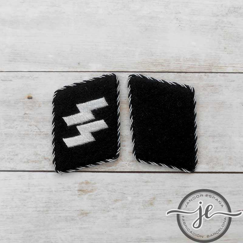 SS-Allgemeine enlisted man's rune collar patches