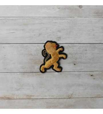 French gold embroidered lion for clothes (sew)