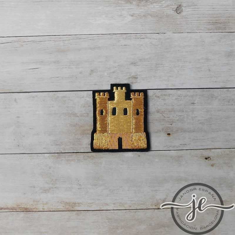 French gold embroidered castle for clothes (sew)