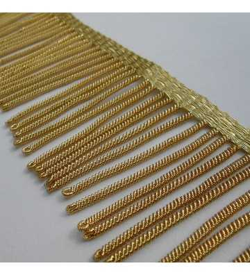 French gold metallic fringe