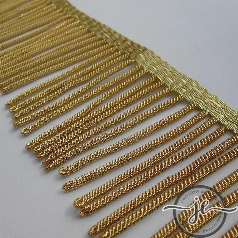 French gold metallic fringe