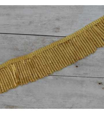 Metallic french gold fringe with special thickness