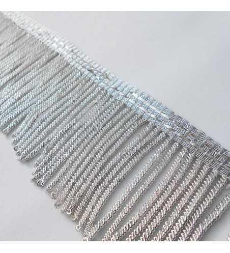 Fleco de canutillo de plata metálico