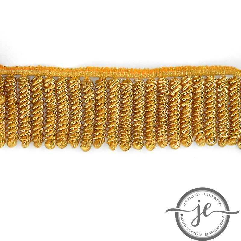 Fleco de oro rizado