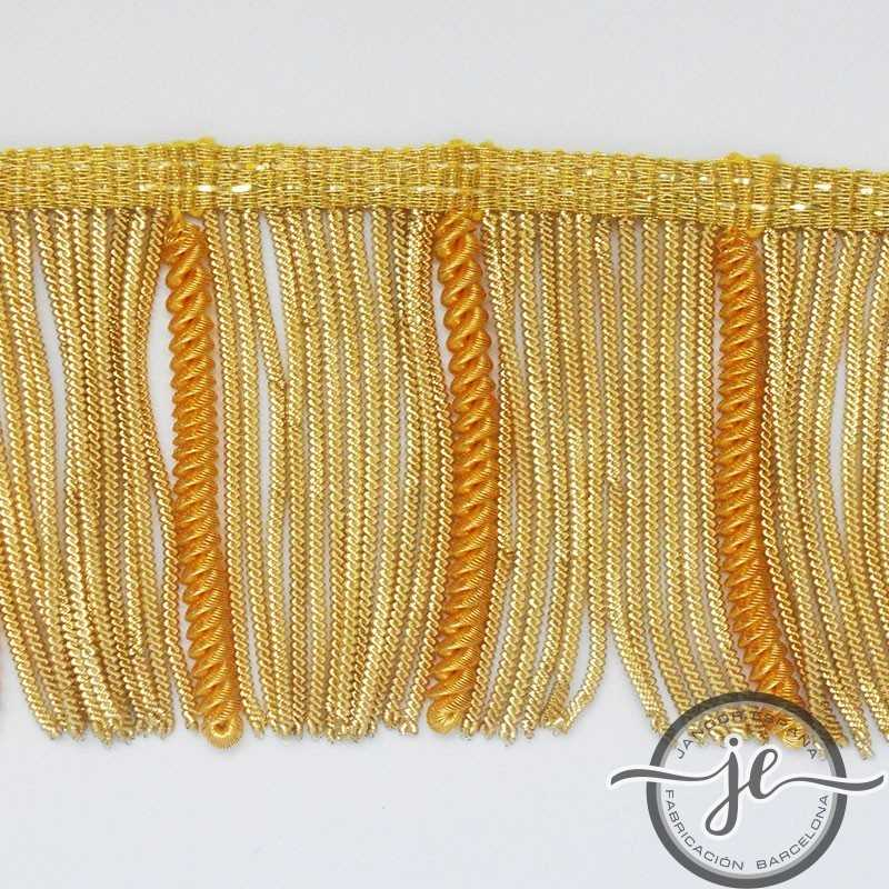 Metallic curly french gold fringe