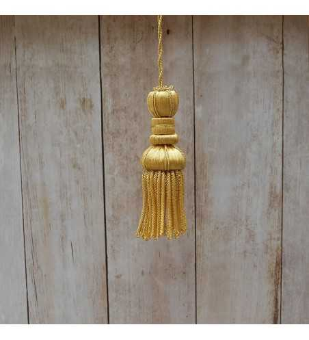 Gold tassel 5 cm with 5 cm fringe