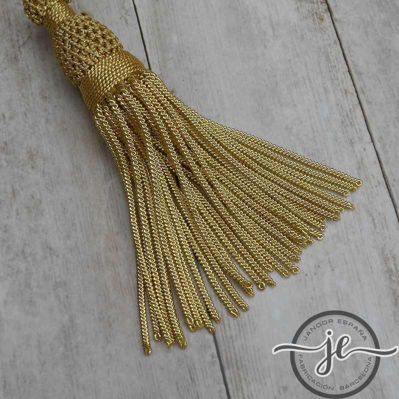 Gold tassel 5 cm with 8 cm fringe