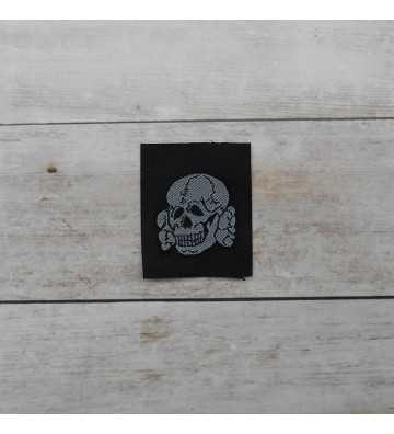 SS enlisted man's silk woven cap skull
