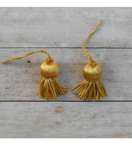 French gold tassel 2.5 cm with fringe 2.5 cm