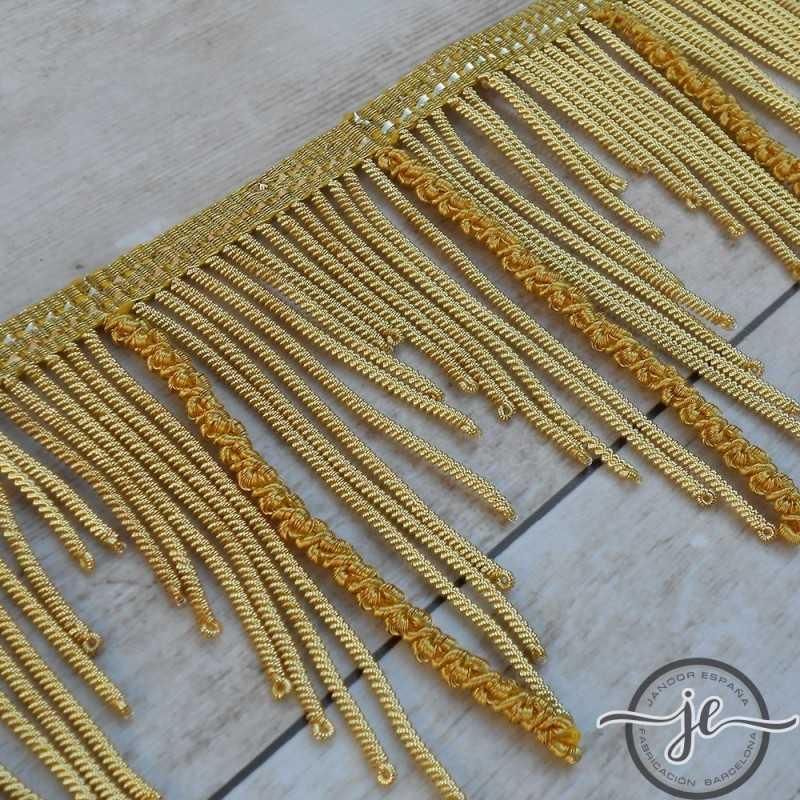 Flecos De Canutillo De Oro Francés Metálico Con Gusanillo Desigual