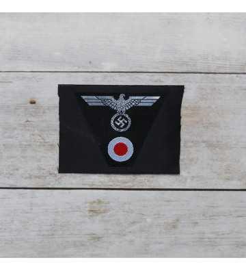 Panzer M43 silk woven cap insignia, Officers